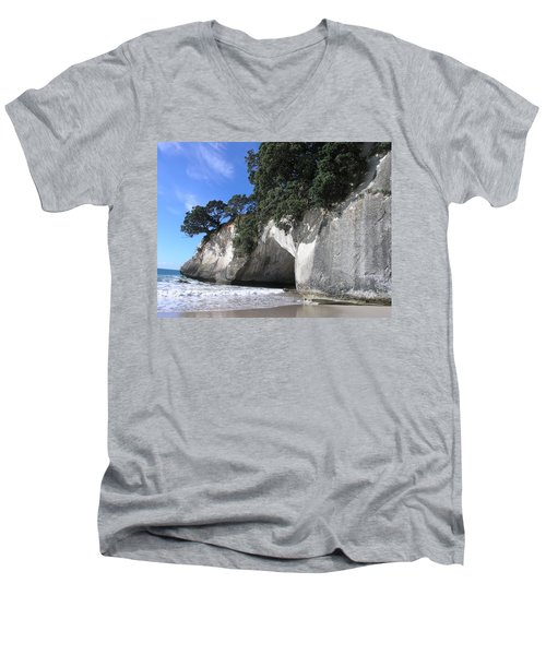 Cathedral Cove Men's V-Neck T-Shirt