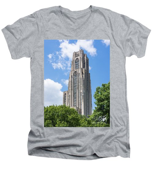 Cathedral Of Learning - Pittsburgh Pa Men's V-Neck T-Shirt