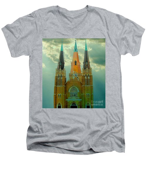Cathedral Of The Holy Family  Men's V-Neck T-Shirt