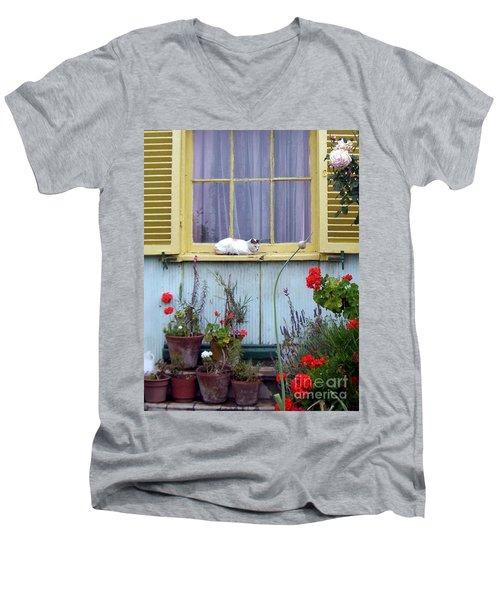 Catnap Men's V-Neck T-Shirt by Barbie Corbett-Newmin