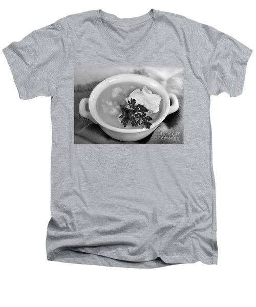 Cauliflower Soup Men's V-Neck T-Shirt by Iris Richardson