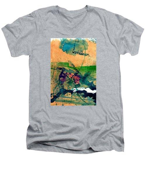 Celebration Men's V-Neck T-Shirt by Becky Chappell