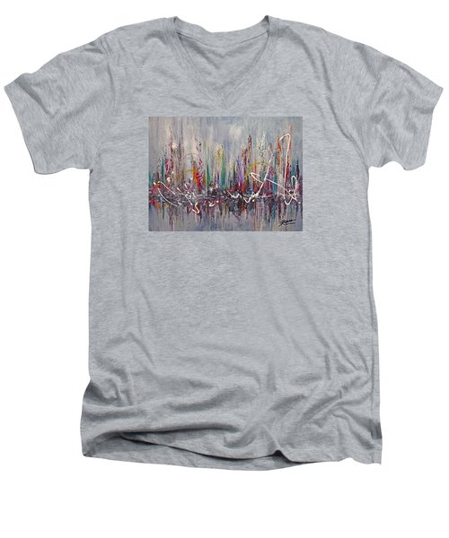 Celebration Men's V-Neck T-Shirt by Roberta Rotunda