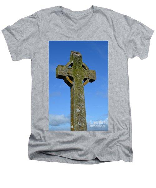 Celtic Stone Cross In Ireland Men's V-Neck T-Shirt