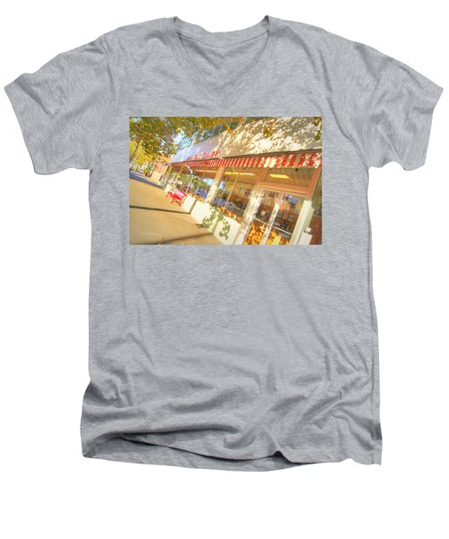 Central Dairy Men's V-Neck T-Shirt