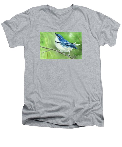 Cerulean Warbler Men's V-Neck T-Shirt