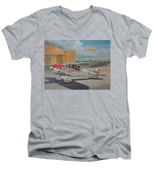 Cessna 195 Men's V-Neck T-Shirt by Stuart Swartz