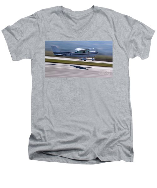 Cessna Takeoff Men's V-Neck T-Shirt