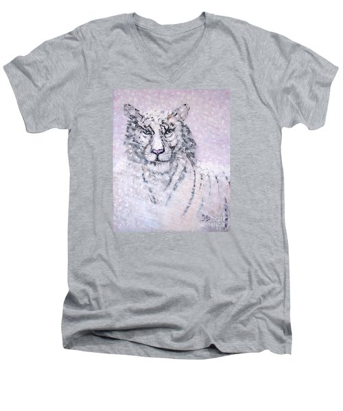 Men's V-Neck T-Shirt featuring the painting Chairman Of The Board by Phyllis Kaltenbach