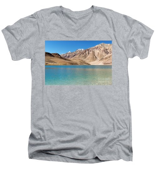 Chandratal Lake Men's V-Neck T-Shirt