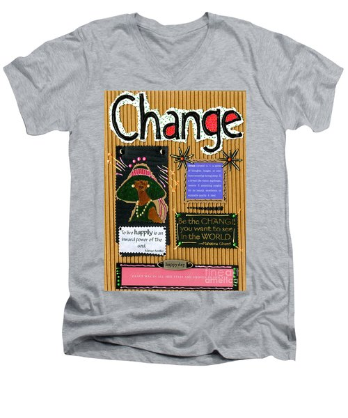 Change - Handmade Card Men's V-Neck T-Shirt