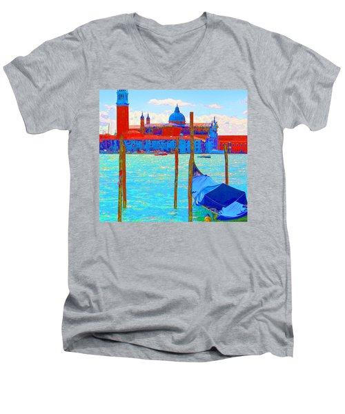 Channeling Matisse   Men's V-Neck T-Shirt by Ira Shander