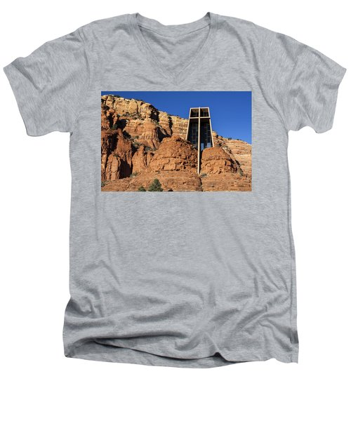 Chapel Of The Holy Cross Men's V-Neck T-Shirt