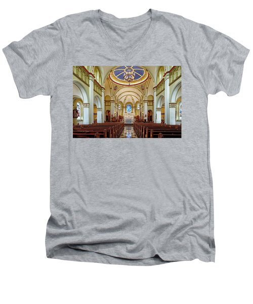 Men's V-Neck T-Shirt featuring the photograph Chapel Of The Immaculate Conception by Jim Thompson