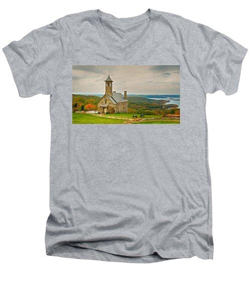 Chapel Of The Ozarks Men's V-Neck T-Shirt