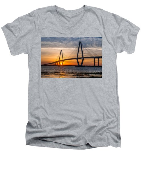 Charleston Sun Setting  Men's V-Neck T-Shirt