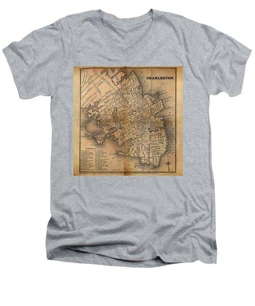 Charleston Vintage Map No. I Men's V-Neck T-Shirt