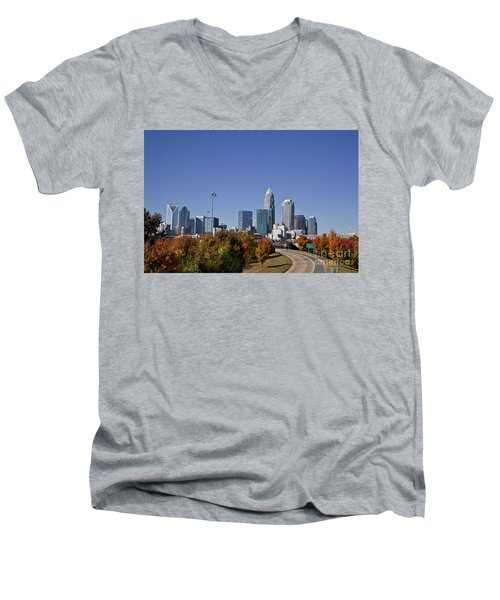 Charlotte North Carolina Men's V-Neck T-Shirt
