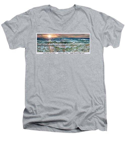 Chasing Chatham Beach Sunsets Men's V-Neck T-Shirt by Rita Brown