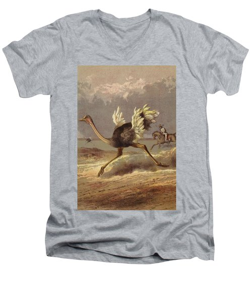 Chasing The Ostrich Men's V-Neck T-Shirt