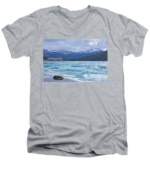 Chateau Lake Louise #2 Men's V-Neck T-Shirt