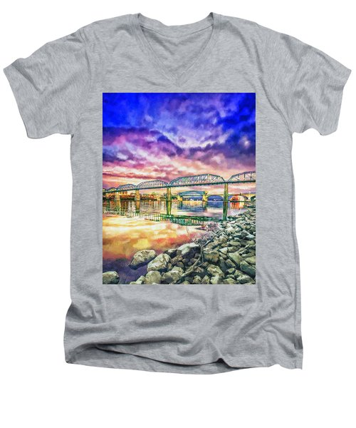 Chattanooga Reflection 1 Men's V-Neck T-Shirt