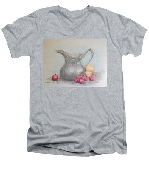 Cherries Still Life Men's V-Neck T-Shirt