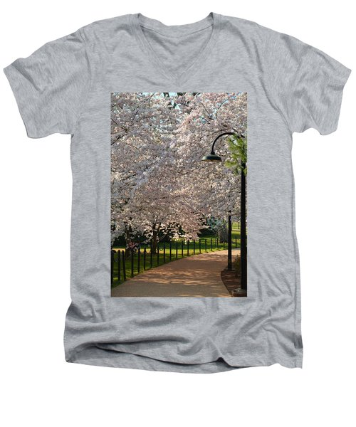 Cherry Blossoms 2013 - 060 Men's V-Neck T-Shirt