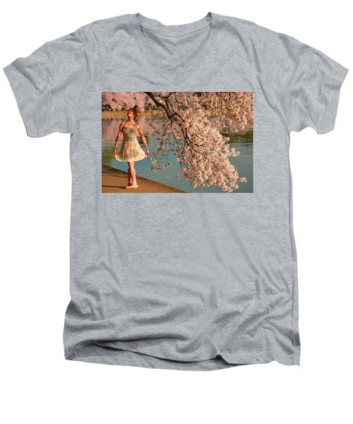 Cherry Blossoms 2013 - 082 Men's V-Neck T-Shirt