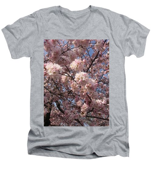 Cherry Blossoms For Lana Men's V-Neck T-Shirt by Emmy Marie Vickers