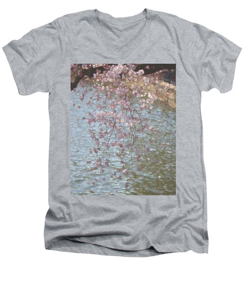Cherry Blossoms P2 Men's V-Neck T-Shirt