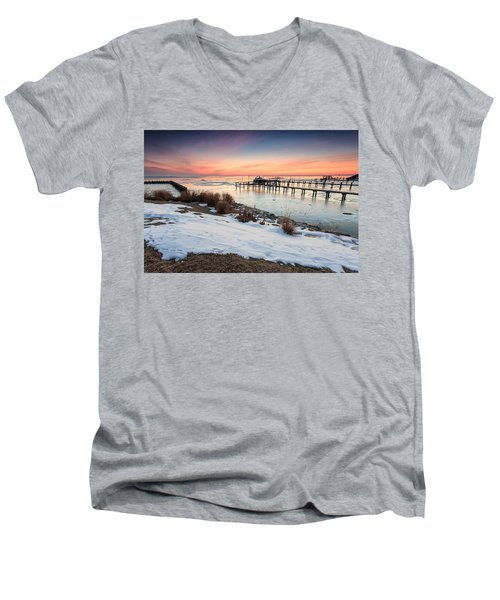 Chesapeake Bay Freeze Men's V-Neck T-Shirt