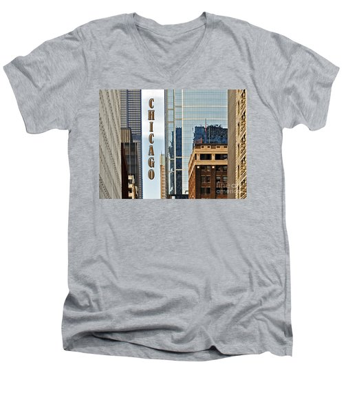 Chicago  Men's V-Neck T-Shirt