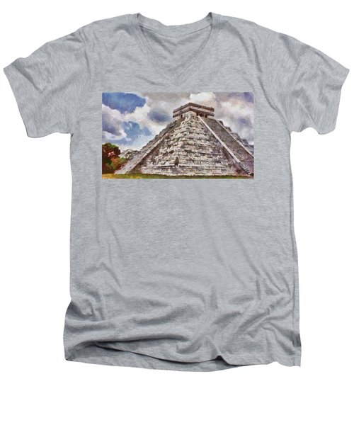 Chichen Itza Men's V-Neck T-Shirt