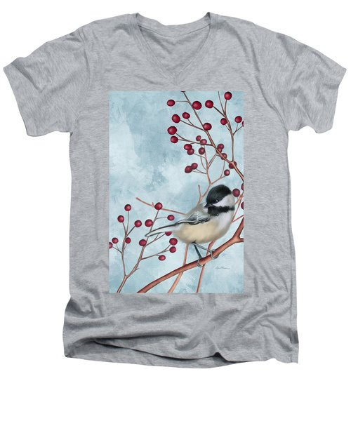 Chickadee I Men's V-Neck T-Shirt