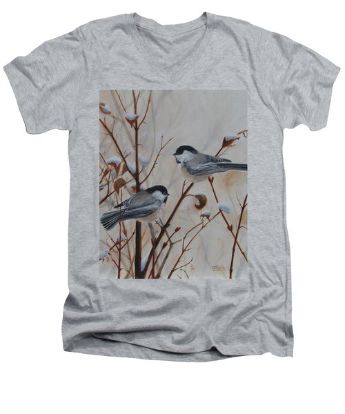 Chickadees Men's V-Neck T-Shirt