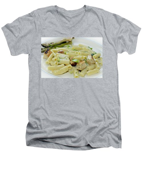 Chicken Alfredo Meal Men's V-Neck T-Shirt
