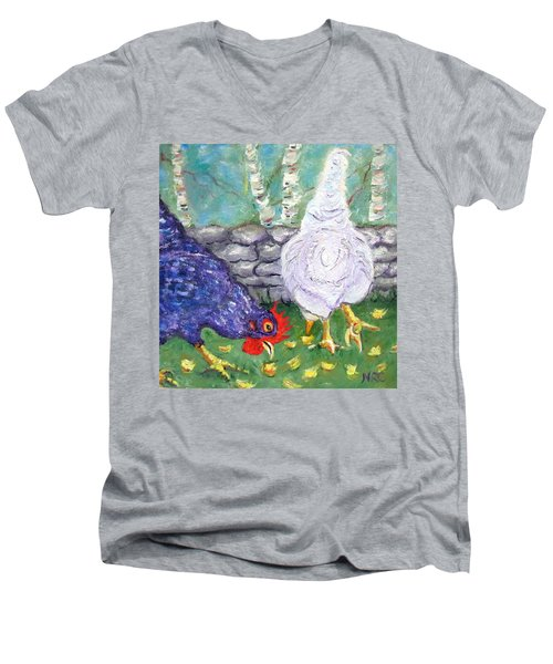 Chicken Neighbors Men's V-Neck T-Shirt