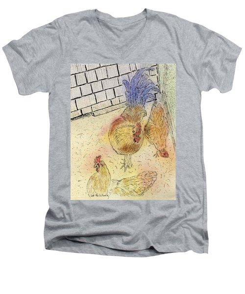 Chickens At Pei Men's V-Neck T-Shirt