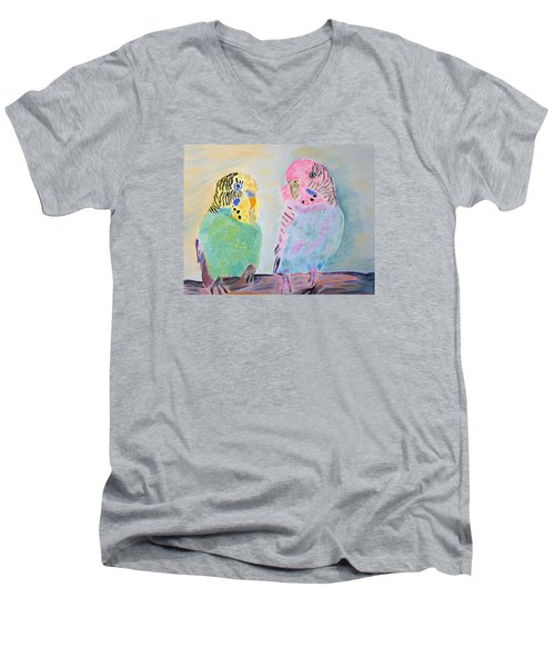 Childhood Parakeets Men's V-Neck T-Shirt