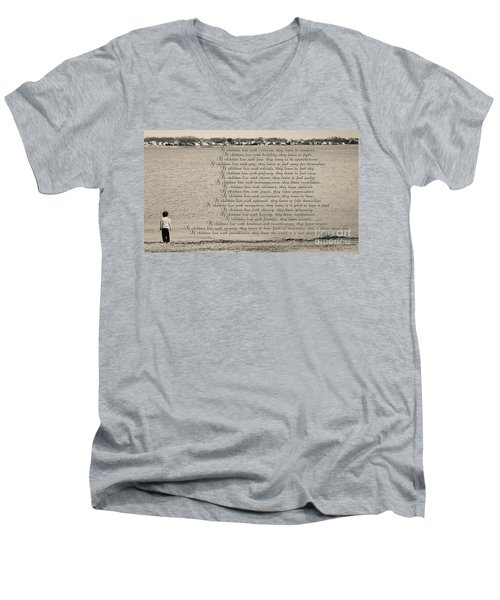 Children Learn What They Live 2 Men's V-Neck T-Shirt