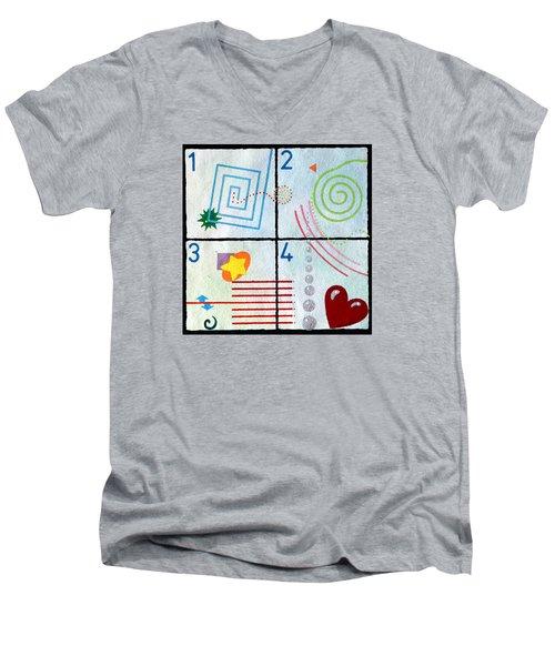 Child's Play Men's V-Neck T-Shirt by Thomas Gronowski