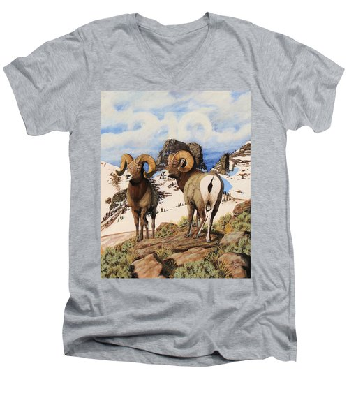 Chimney Rock Thunderheads Men's V-Neck T-Shirt