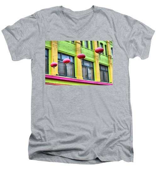 Chinatown Colors Men's V-Neck T-Shirt