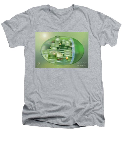 Chloroplast - Basis Of Life - Plant Cell Biology - Chloroplasts Anatomy - Chloroplasts Structure Men's V-Neck T-Shirt