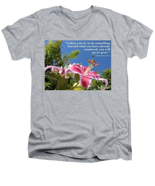 Choose Your Quote Choose Your Picture 18 Men's V-Neck T-Shirt