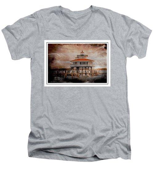 Choptank River Lighthouse Men's V-Neck T-Shirt