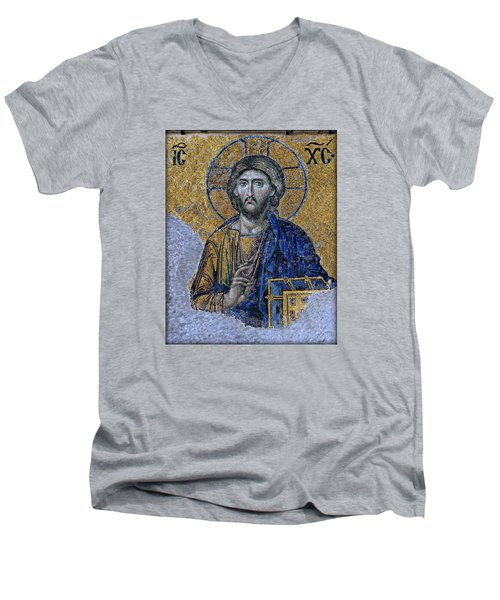 Christ Pantocrator -- Hagia Sophia Men's V-Neck T-Shirt