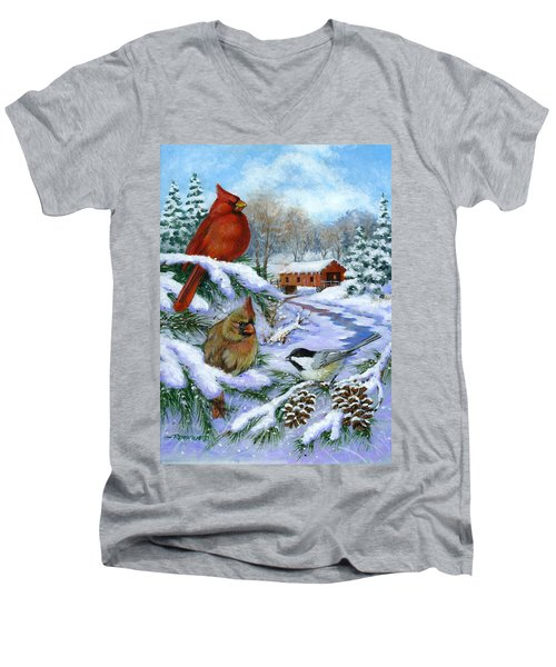 Christmas Creek Men's V-Neck T-Shirt