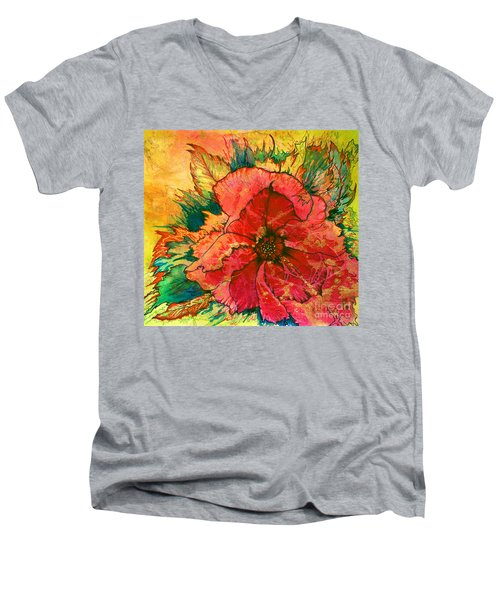 Christmas Flower Men's V-Neck T-Shirt